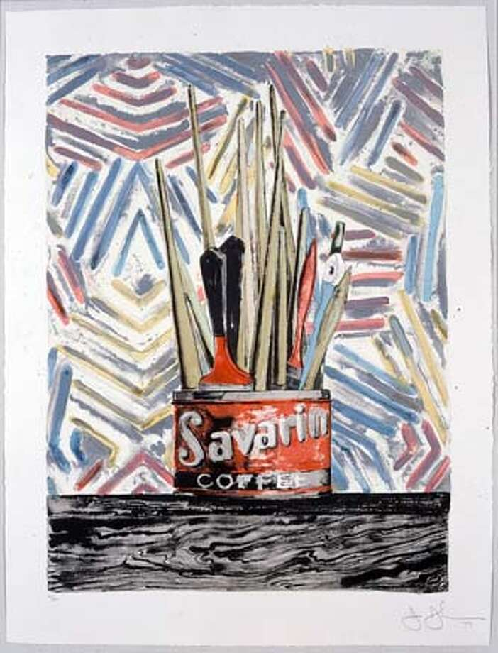 3. Savarin, 1977  Color lithograph  45 x 35 in.; Field 259, ULAE 183  Printed by Bill Goldston and James V. Smith  Published by Universal Limited Art Editions  Collection of Harry W. and Mary Margaret Anderson  L05.756.2. On view in Jasper Johns: 45 Years of Master Prints  de Young, Anderson Gallery of Graphic Art  15 October 2005�12 February 2006 Photo: Jasper Johns