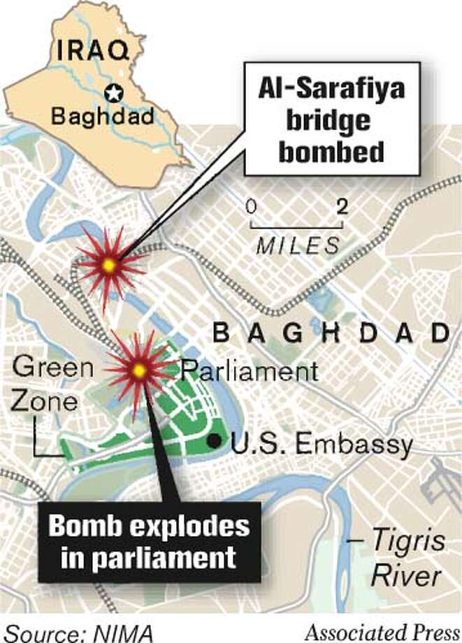 Baghdad Bombings. Associated Press Graphic
