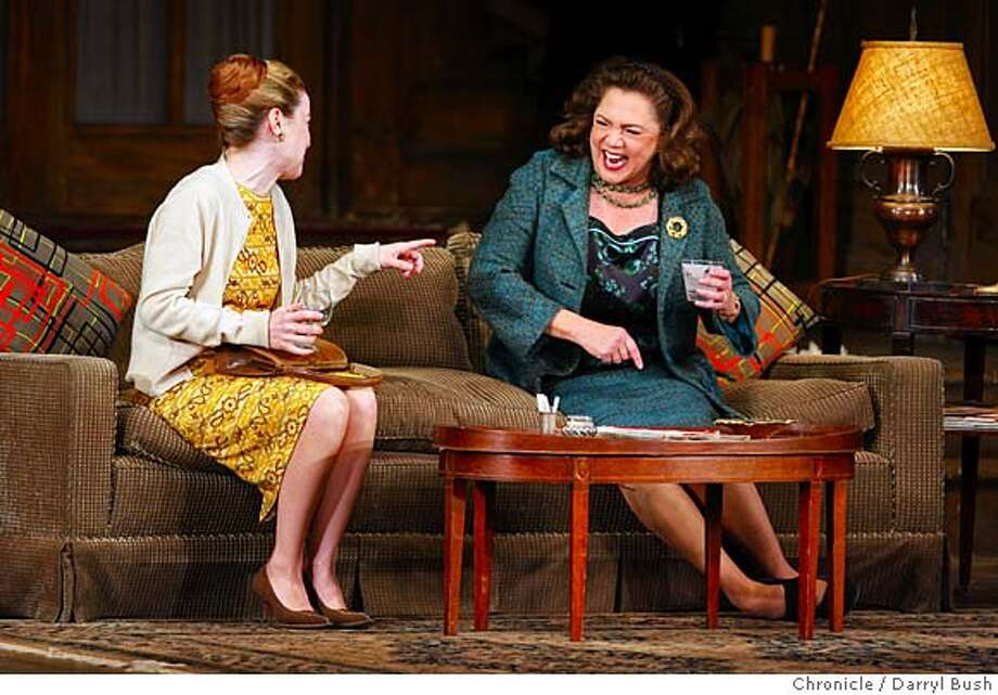 "Kathleen Early and Kathleen Turner, right, perform in ""Who's Afraid of Virginia Woolf?"" at the Golden Gate Theatre in San Francisco, CA, on Thursday, April, 12, 2007. photo taken: 4/12/07  Darryl Bush / The Chronicle ** Kathleen Early, Kathleen Turner (cq) Photo: Darryl Bush"