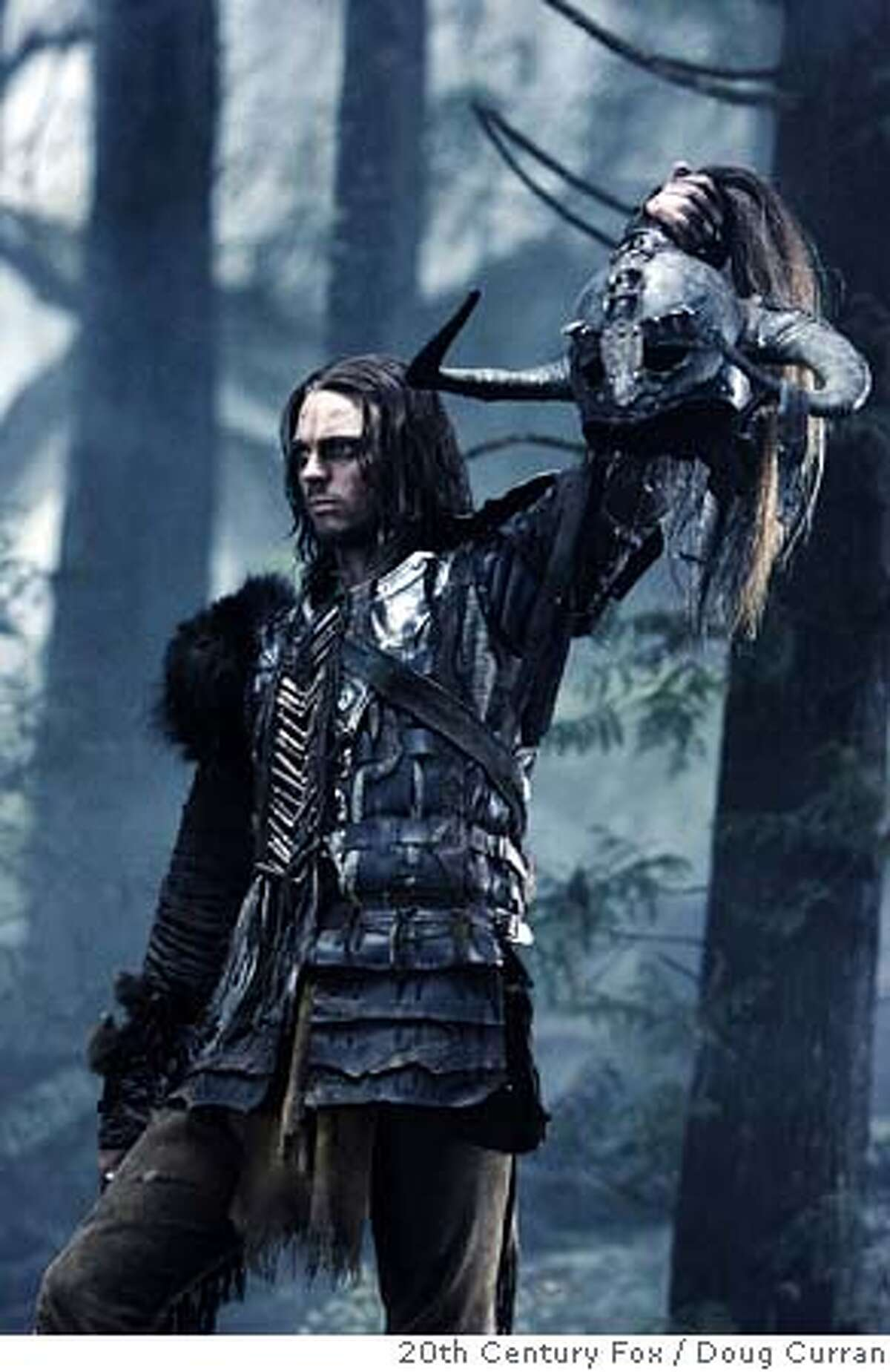 Karl Urban plays a warrior named Ghost, a Viking who was raised by Native Americans, in