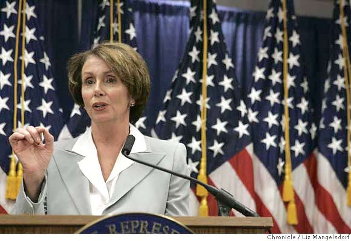 Speaker of the House of Representatives Nancy Pelosi, appears with Representative Tom Lantos, D-San Mateo, in front of the media to talk about their recent trip to the Mideast on April 10th, 2007 at the Federal Building in San Francisco. Liz Mangelsdorf/ The Chronicle