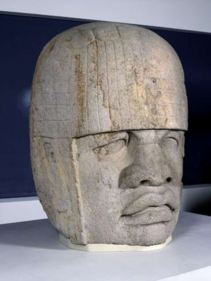 Olmec head at the new de young  Olmec Colossal Head, Monument 4  1200-900 B.C.  San Lorenzo, Veracruz, Mexico  6ft tall, 10,141 pounds  Basalt  Museo de Antropolog�a de Xalapa  CONACULTA-INAH Photo: Handout