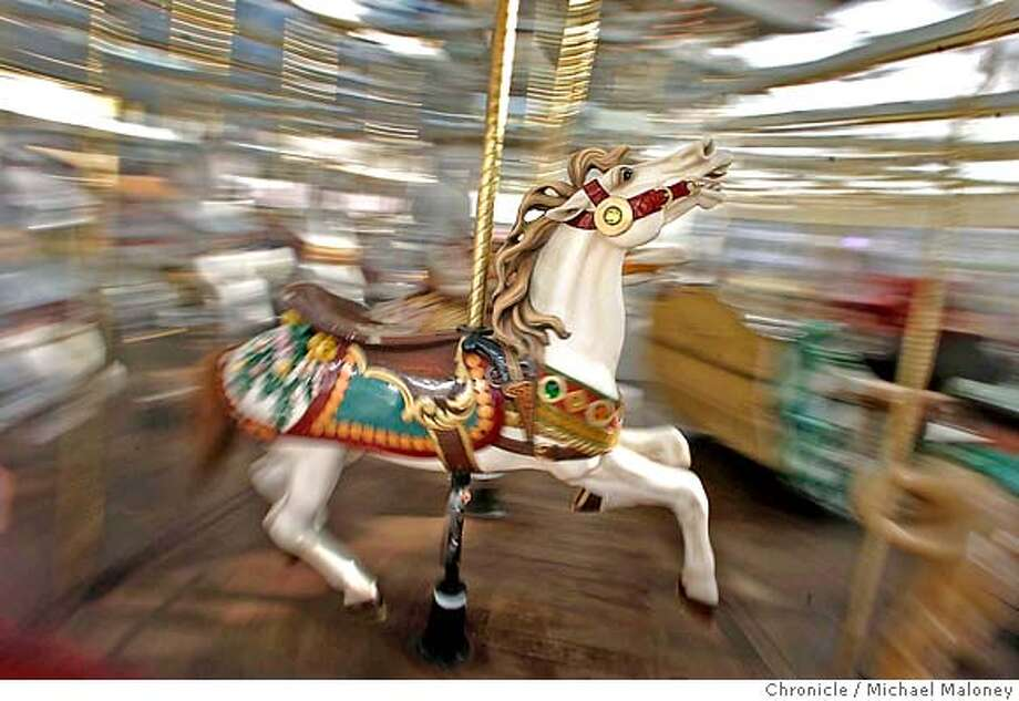 The beautiful horses of the Zeum Carousel Street Date feature on 3rd Street between Howard and Misiion in San Francisco. Photo by Michael Maloney / San Francisco Chronicle MANDATORY CREDIT FOR PHOTOG AND SF CHRONICLE/NO SALES-MAGS OUT Photo: Michael Maloney