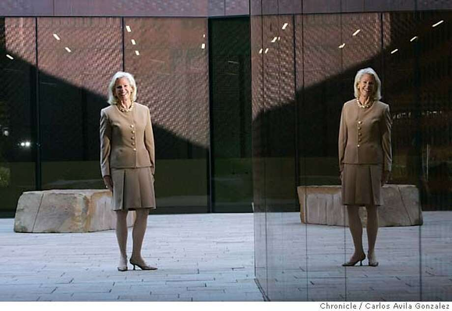 WILSEY_022_CG.JPG  Dede Wilsey is the woman who raised the $200 million in private money to build the new, publically-owned de young Museum. She's an affluent San Franciscan active in art and social circles who's spent the past 10 years twisting arms for the cash to build this beautiful new museum. Photo by Carlos Avila Gonzalez / The San Francisco Chronicle  Photo taken on 9/28/05, in San Francisco,CA. Ran on: 10-11-2005  Dede Wilsey, who for 10 years has sought funding for a new de Young Museum, has long championed philanthropic causes. Ran on: 10-11-2005  Dede Wilsey's successful capital campaign gives her reason to smile at the new M.H. de Young Museum in Golden Gate Park. Photo: Carlos Avila Gonzalez