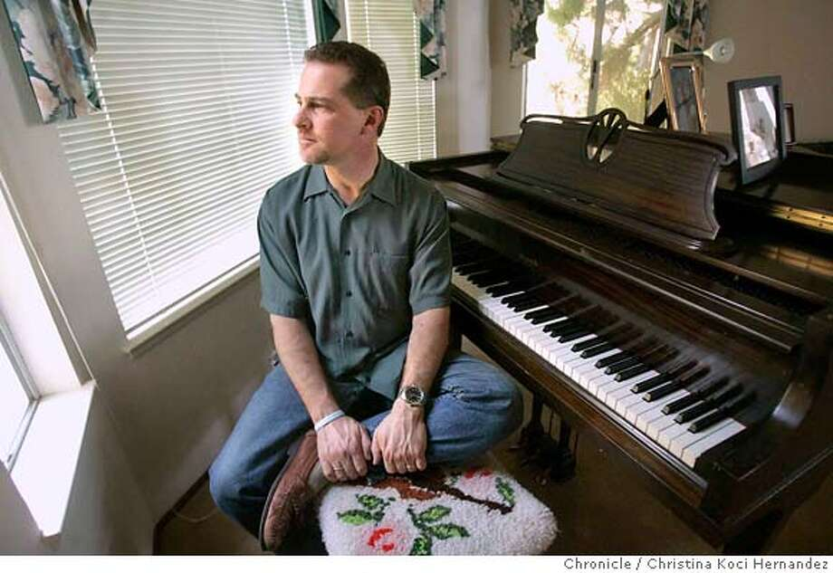 Jeff Bell photographed in his home in Benicia. Jeff Bell, a San Francisco disc jockey, has been diagnosed as having a strong case of Obsessive Compulsive  Disorder.He documenting his OCD battle story in his book, Rewind, Replay, Repeat.  (Christina Koci Hernandez/The Chronicle) CHRONICLE Photos by Christina Koci Hernandez Photo: Christina Koci Hernandez/CHRONIC