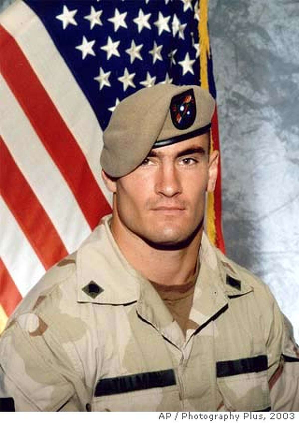 ** FILE ** Cpl. Pat Tillman is seen in a this 2003 file photo provided by Photography Plus. A House committee has scheduled hearings on the string of misleading statements by the military following the friendly fire death of Pat Tillman in Afghanistan and the kidnapping and rescue of Pvt. Jessica Lynch in Iraq, congressional officials said Tuesday, April 10, 2007. (AP Photo/Photography Plus via Williamson Stealth Media Solutions, FILE) 2003 FILE PHOTO PROVIDED BY PHOTOGRAPHY PLUS.