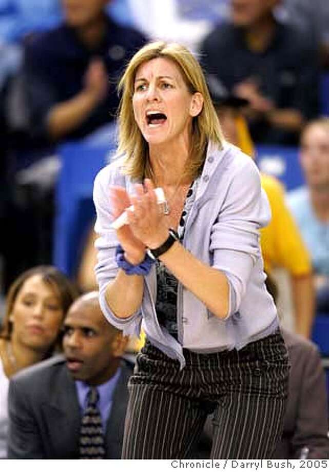 California Golden Bear's women's basketball head coach, Joanne Boyle on the sidelines during a game vs. San Jose State.  Event on 12/8/05 in San Jose.  Darryl Bush / The Chronicle Photo: Darryl Bush