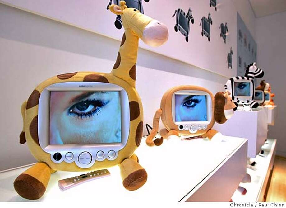 designtv10_038_pc.jpg  Televisions designed as zoo animals are targeted for children at Hanspree's new flagship Union Square store on 10/7/05 in San Francisco, Calif. The Fremont-based company designs and manufactures theme-based television sets.  PAUL CHINN/The Chronicle MANDATORY CREDIT FOR PHOTOG AND S.F. CHRONICLE/ - MAGS OUT Photo: PAUL CHINN