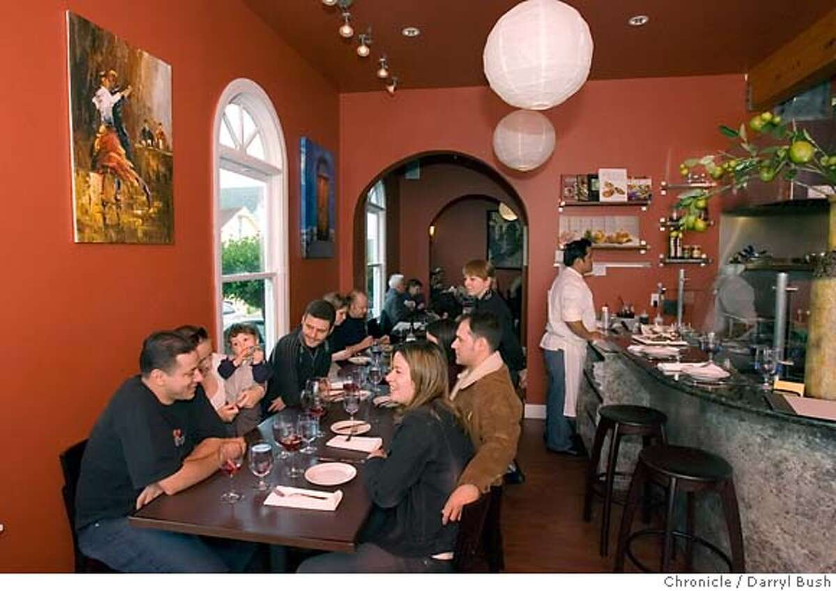 whats11_0003_db.JPG Thales and Bernadette Oliveira with their baby son, Alessandro, 8-months-old, of Brisbane, left, dine with friends at Piqueo's, a new restaurant described as