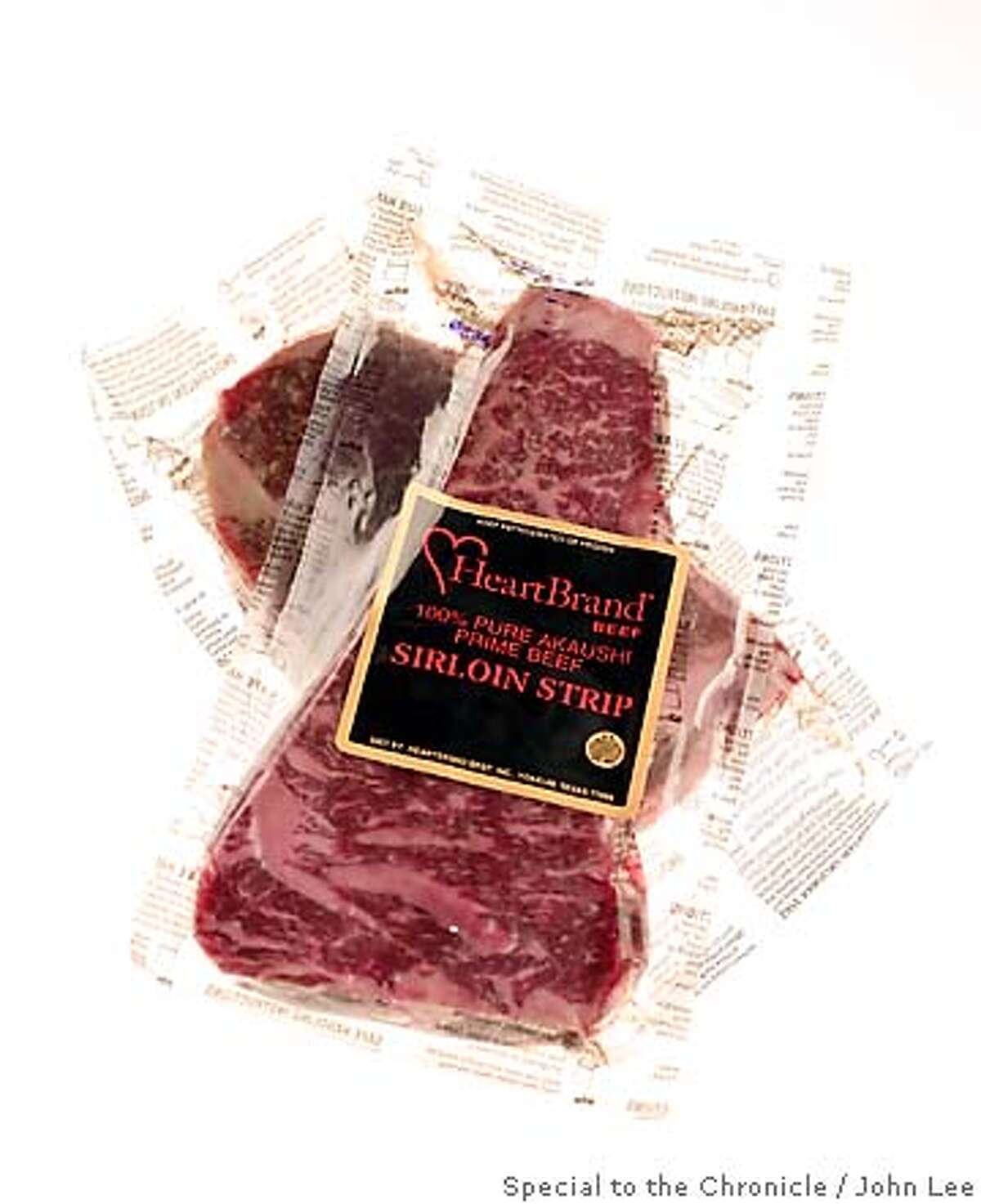 WHATS22_03JOHNLEE.JPG Heart Brand Beef Akaushi steaks. By JOHN LEE/SPECIAL TO THE CHRONICLE