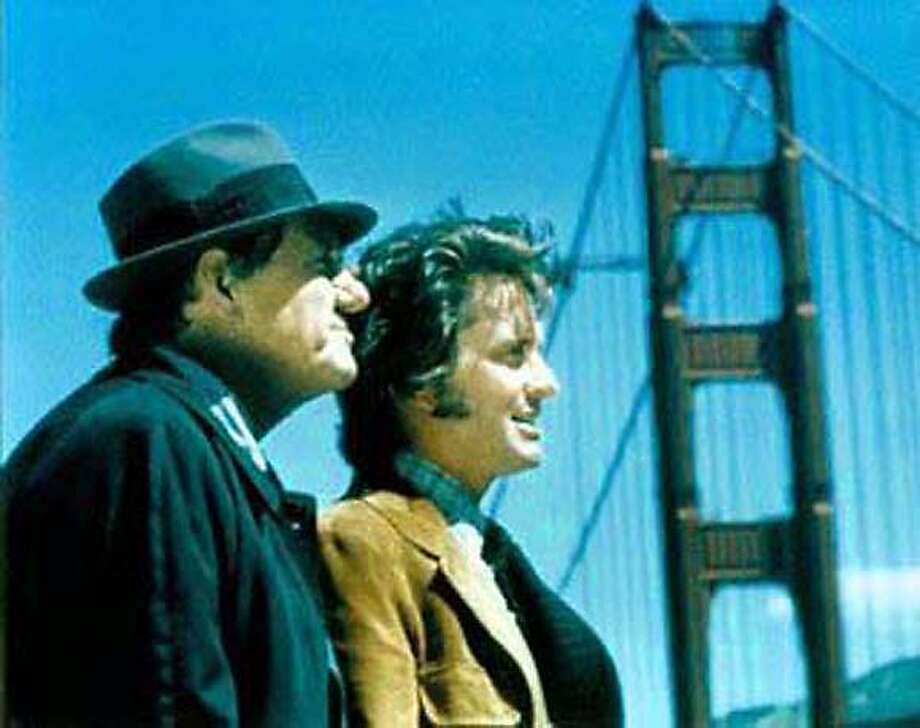 Karl Malden, left, and Michael Douglas in a still from TV show STREETS OF SAN FRANCISCO Photo: Paramount Home Video