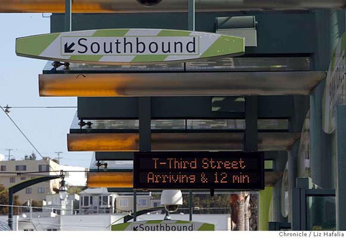 San Francisco's new T-Third streetcar line starts weekday service today. Liz Hafalia/The Chronicle/San Francisco/4/10/07 ** cq