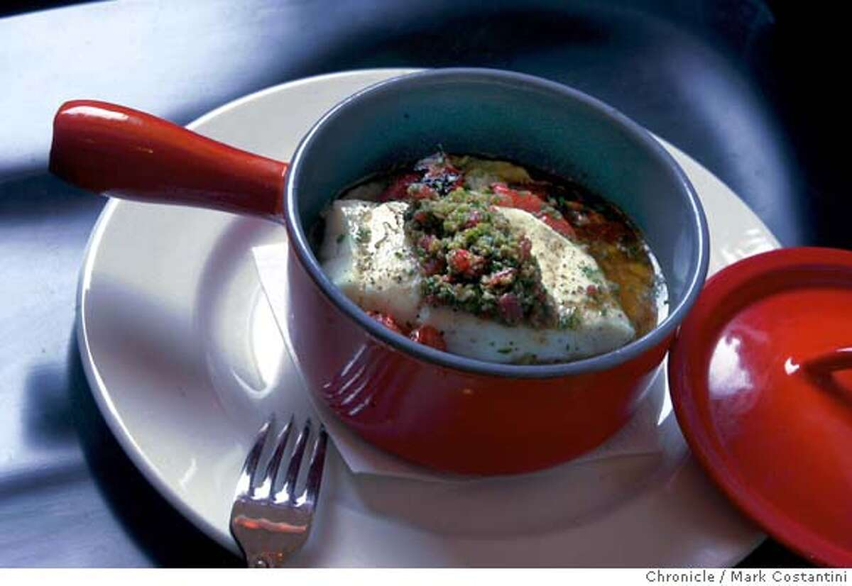 Range is one of the best restaurants to open in some time, taking the place of Timo's in the Mission. For food: The halibut main course; Photograph by Mark Costantini/S.F. Chronicle.