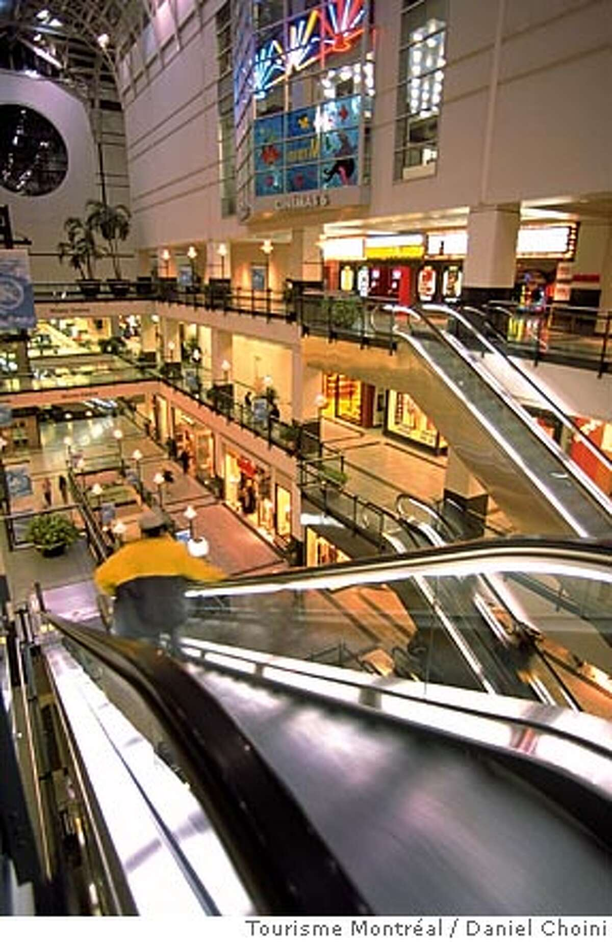 TRAVEL MONTREAL -- Shopping at Eaton Centre - Downtown, part of the vast underground city