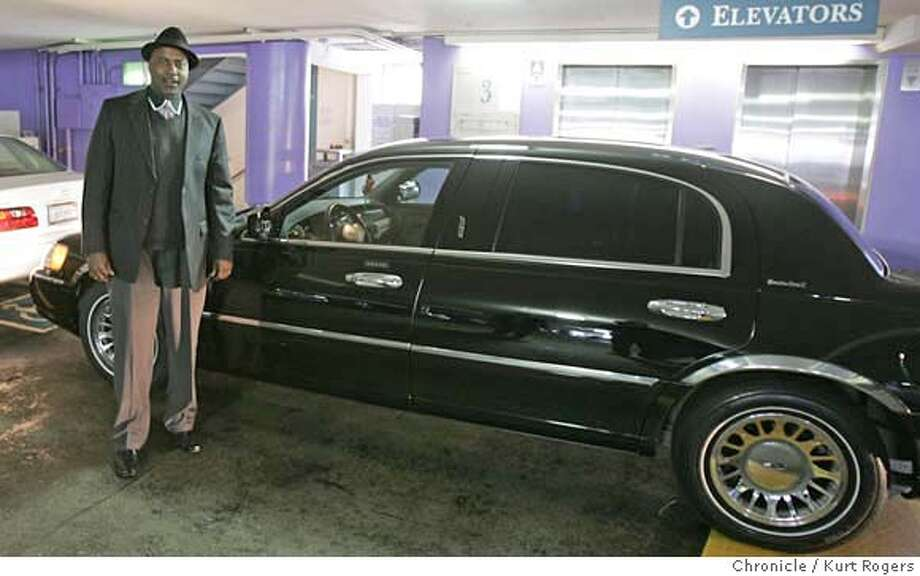 Dennis Webb who's limo was damaged during last weeks Critical Mass bike ride. stans next to the car in the 5th street garage.  FRIDAY, APRIL 6, 2007 KURT ROGERS SAN FRANCISCO THE CHRONICLE  KURT ROGERS/THE CHRONICLE M&R_0001_kr.jpg MANDATORY CREDIT FOR PHOTOG AND SF CHRONICLE / NO SALES-MAGS OUT Photo: KURT ROGERS