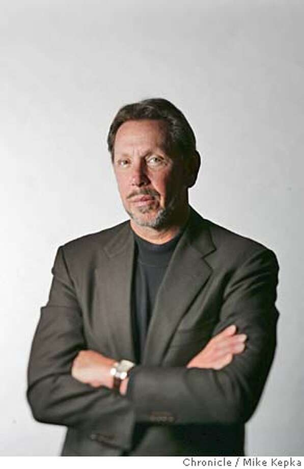 ellison22015_mk.jpg Oracle CEO, Larry Ellison photographed at the San Francisco Chronicle. 4/22/05 Mike Kepka / The Chronicle MANDATORY CREDIT FOR PHOTOG AND SF CHRONICLE/ -MAGS OUT Photo: Mike Kepka