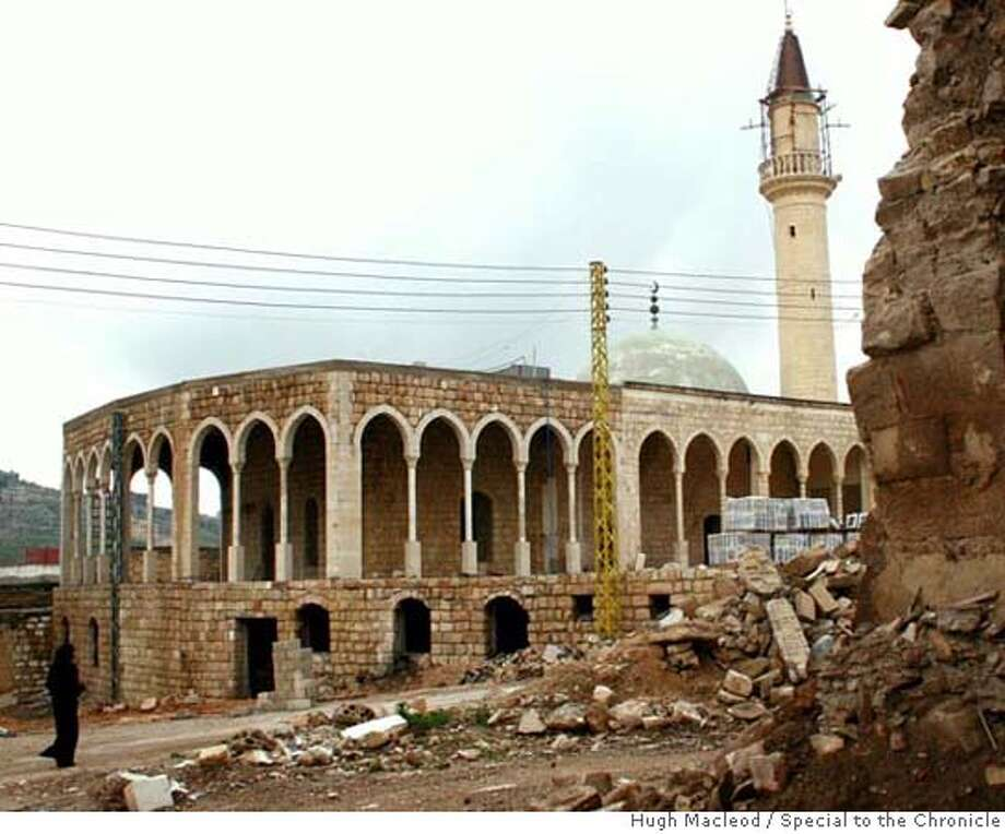 Sunni state Qatar, which trades with Israel, has taken the lead in rebuilding the Hezbollah Shiite town of Bint Jbeil, including the Grand Mosque in the heart of the Old City. Photo by Hugh Macleod/Special to the Chronicle Photo: Hugh Macleod/Special To The Chro