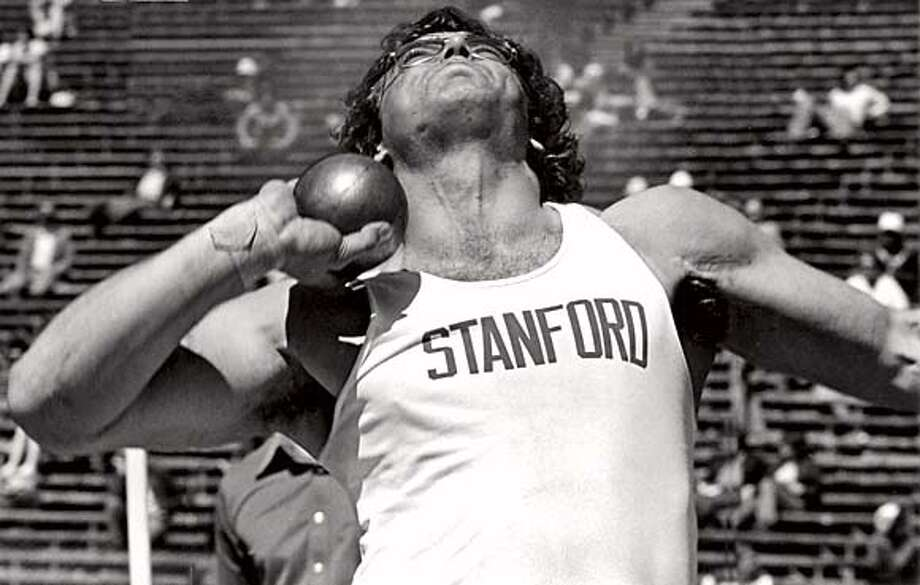 Terry Albritton,  Stanford shotput, 1977 Photo: Xxxx
