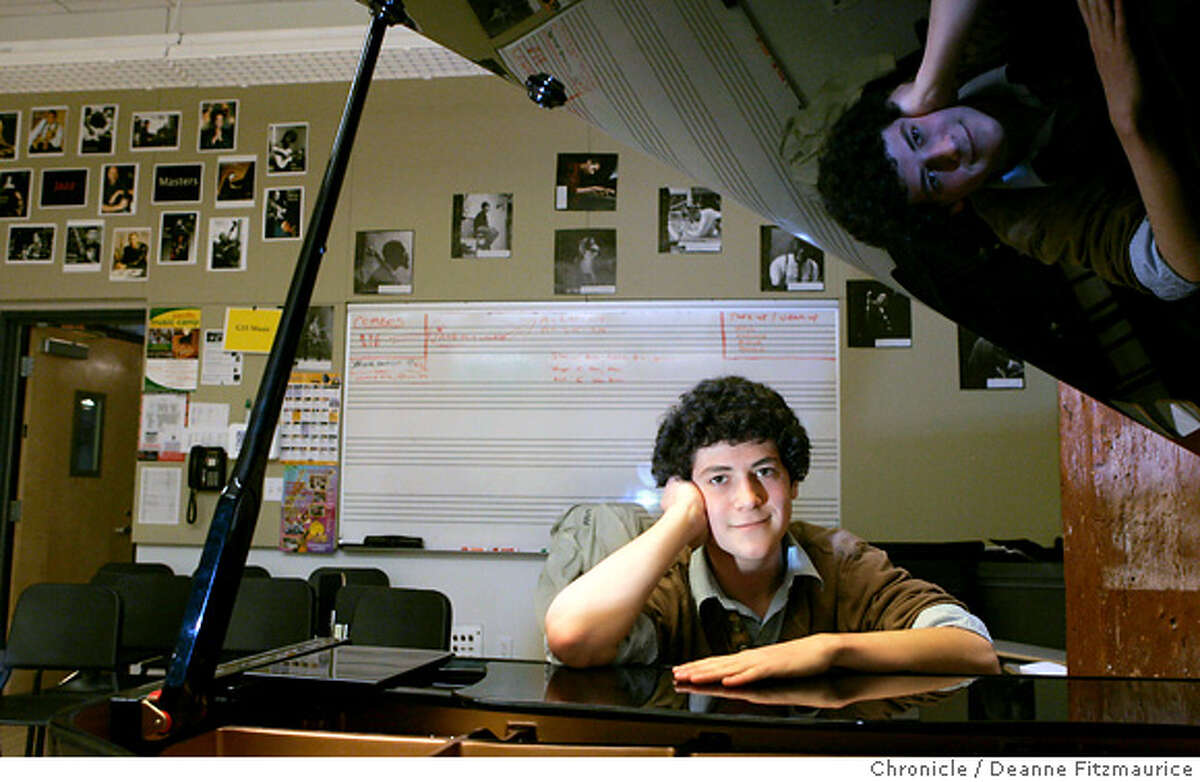 reider_121_df.jpg Sam Reider is a prize-winning jazz pianist at Urban High School. Photographed in San Francisco on 4/5/07. Deanne Fitzmaurice / The Chronicle Mandatory credit for photographer and San Francisco Chronicle. No Sales/Magazines out.