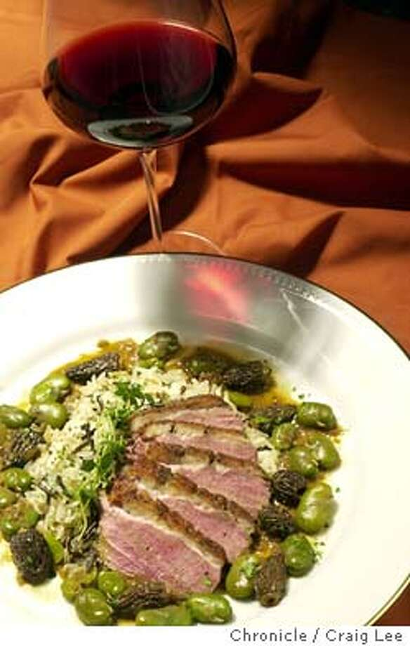 Wine recipe pairing with Pinot Noir. Photo of Duck Breast. Food photo styled by Lynne Bennett.  Event on 7/3/03 in San Francisco. CRAIG LEE / The Chronicle Photo: CRAIG LEE