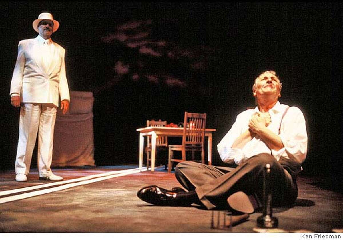 � (left to right) Julian L�pez-Morillas (Ben Loman) and Corey Fischer (Willy Loman) in TJT�s production of DEATH OF A SALESMAN, performing April 5 June 10, 2007 in San Francisco, Mountain View and Berkeley. Credit: KEN FRIEDMAN