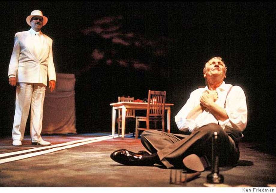 � (left to right) Julian L�pez-Morillas (Ben Loman) and Corey Fischer (Willy Loman) in TJT�s production of DEATH OF A SALESMAN, performing April 5  June 10, 2007 in San Francisco, Mountain View and Berkeley. Credit: KEN FRIEDMAN Photo: KEN FRIEDMAN