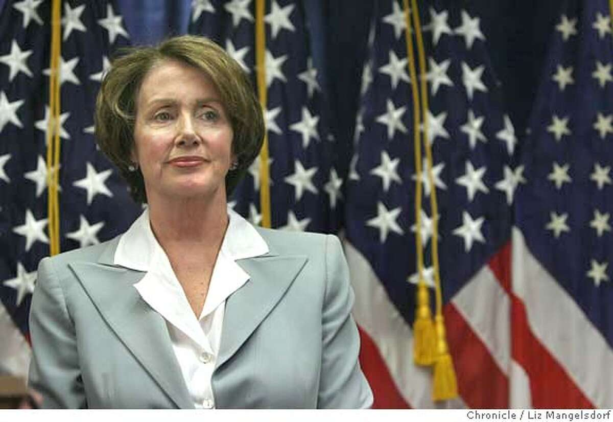Speaker of the House of Representatives Nancy Pelosi listens to Representative Tom Lantos, D-San Mateo, speak to the media about their recent trip to the Mideast on April 10th, 2007 at the Federal Building in San Francisco. Liz Mangelsdorf/ The Chronicle