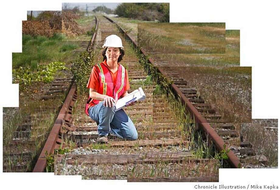 """Wenlin Yang, Deputy Program Manager with URS oversees a project called """"The Dumbarton Rail Corridor project,"""" that will connect CalTrain customers from Union City to San Jose. The project, currently expected to be completed in 2012, involves rebuilding an existing Southern Pacific freight line recently aquired by San Mateo County. Chron 200 portraits 3/28/07.  MIKE KEPKA / The Chronicle Wenlin Yang (cq) the source Photo: MIKE KEPKA"""
