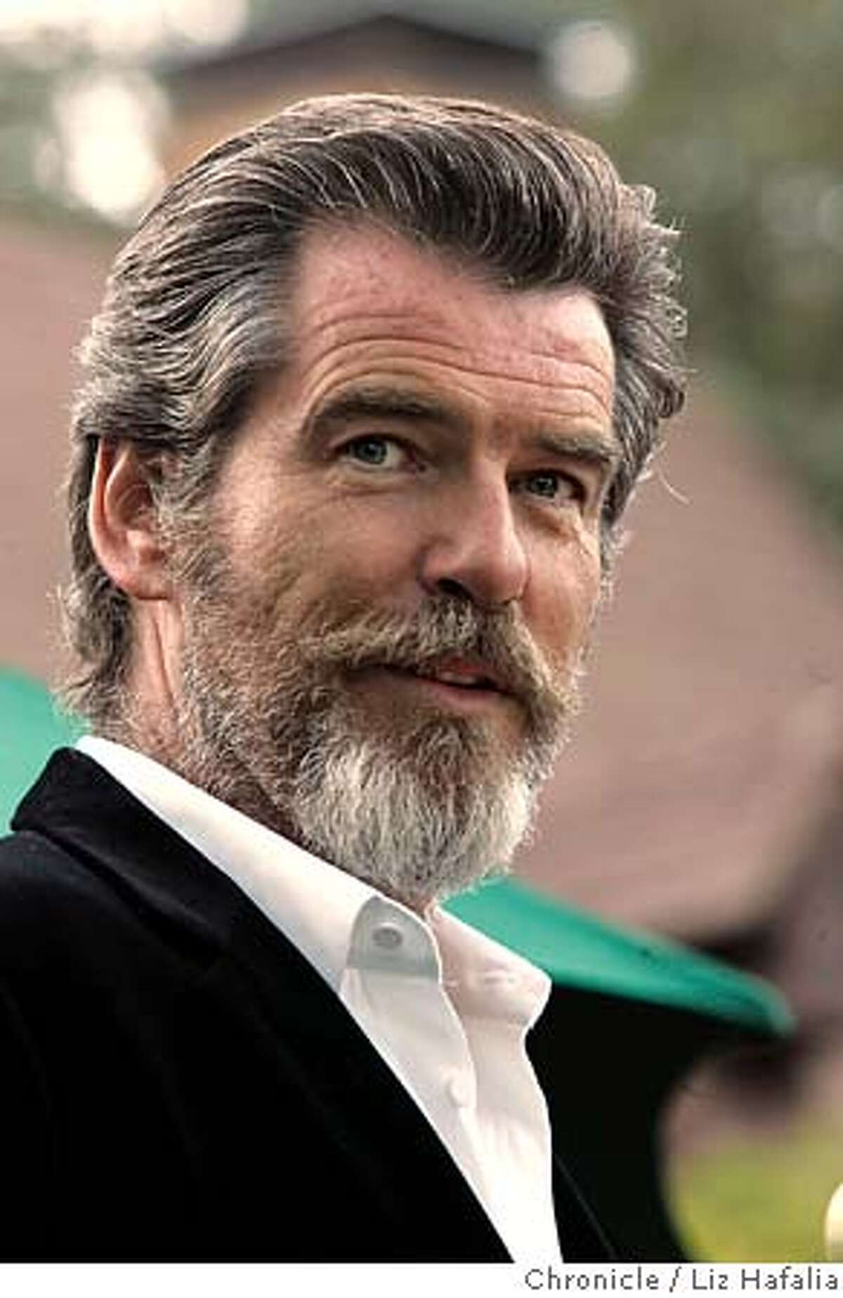 Pierce Brosnan at the opening night of the Mill Valley Film Festival during the pre-party at the Outdoor Art Club. Photographed by Liz Hafalia on 10/6/05 in Mill Valley, California. SFC Creditted to the San Francisco Chronicle/Liz Hafalia