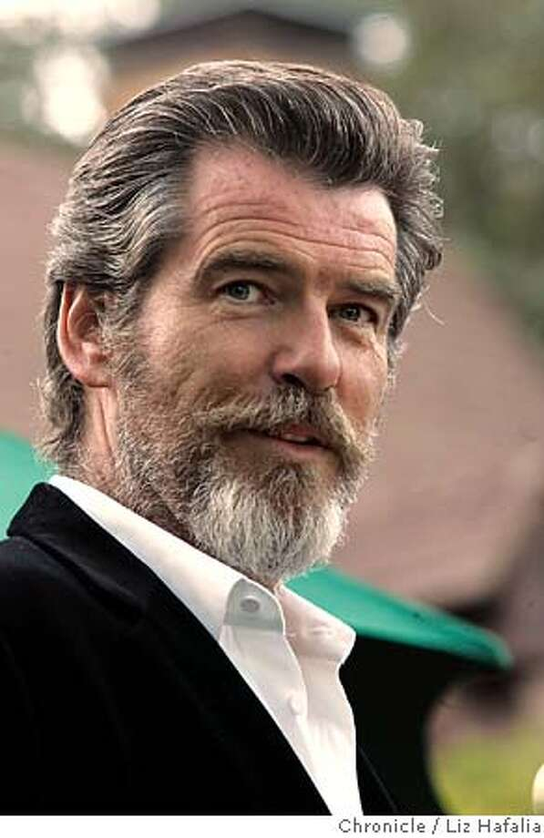Pierce Brosnan at the opening night of the Mill Valley Film Festival during the pre-party at the Outdoor Art Club. Photographed by Liz Hafalia on 10/6/05 in Mill Valley, California. SFC Creditted to the San Francisco Chronicle/Liz Hafalia Photo: Liz Hafalia