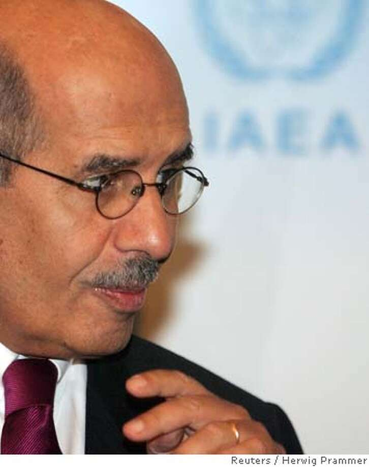 International Atomic Energy Agency (IAEA) Director General Mohamed ElBaradei smiles during a news conference after winning the Nobel Peace Prize October 7, 2005 in Vienna. The U.N. nuclear watchdog IAEA and its head, ElBaradei, won the 2005 Nobel Peace Prize on Friday. REUTERS/Herwig Prammer Ran on: 10-08-2005  Mohamed ElBaradei pushes for diplomacy over confrontation. Photo: HERWIG PRAMMER