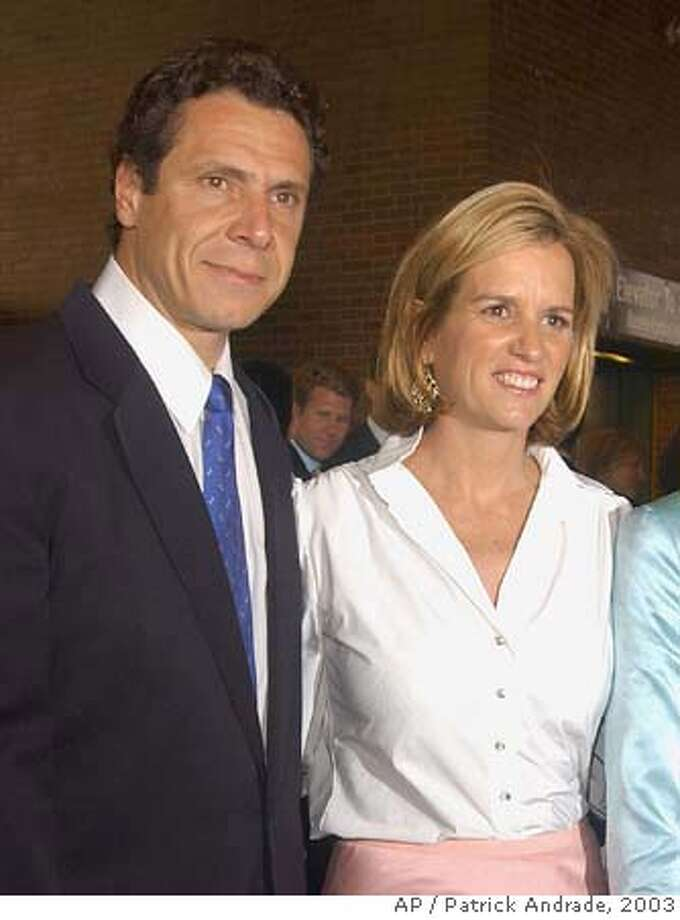 **FILE** Andrew Cuomo and his wife Carrie Kennedy-Cuomo, are shown in this June 10, 2002, file photo, in New York. Andrew Cuomo, son of former governor Mario Cuomo, and Kerry Kennedy Cuomo, daughter of the late Sen. Robert F. Kennedy, announced Monday, June 30, 2003, they are separating after 13 years of marriage. (AP Photo/Patrick Andrade, FILE) CAT mug shot Photo: PATRICK ANDRADE
