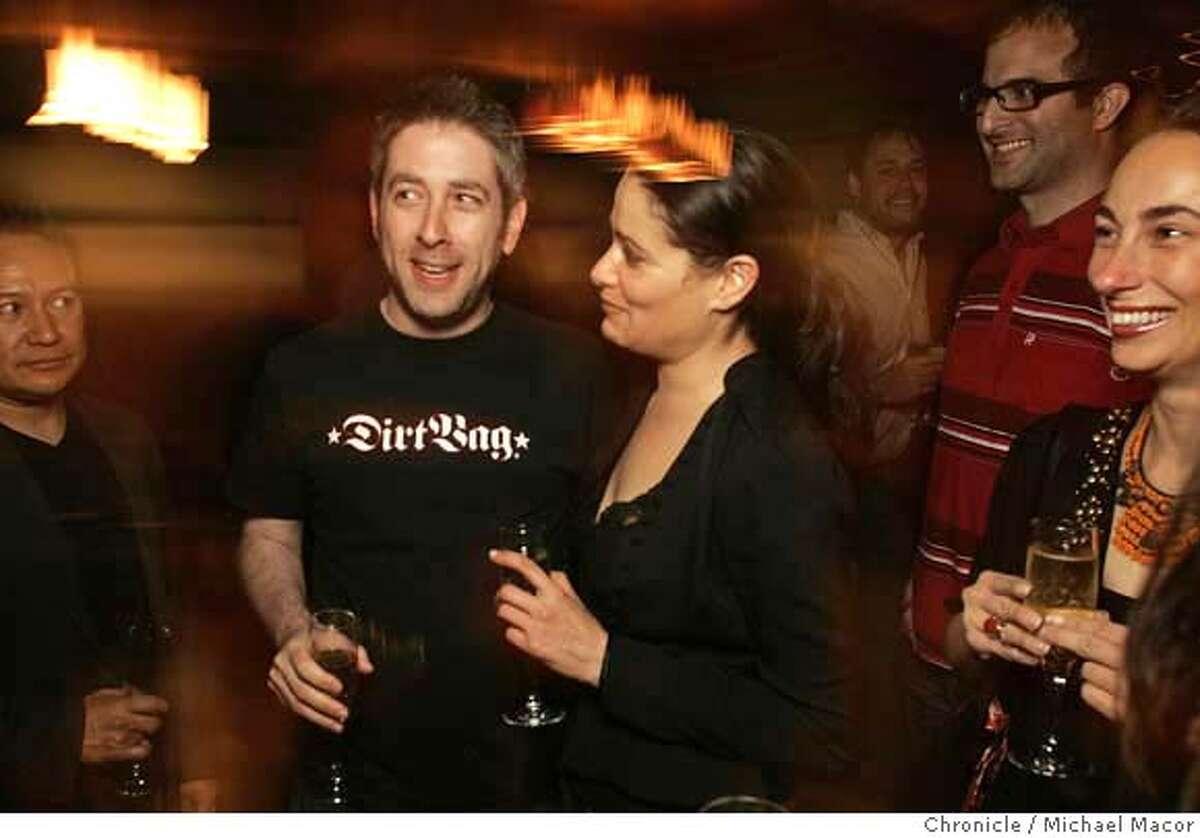 .jpg Jonathan Abrams,(cq) along with his girlfriend Martine Krumholtz, (cq) with friends at the nightclub,