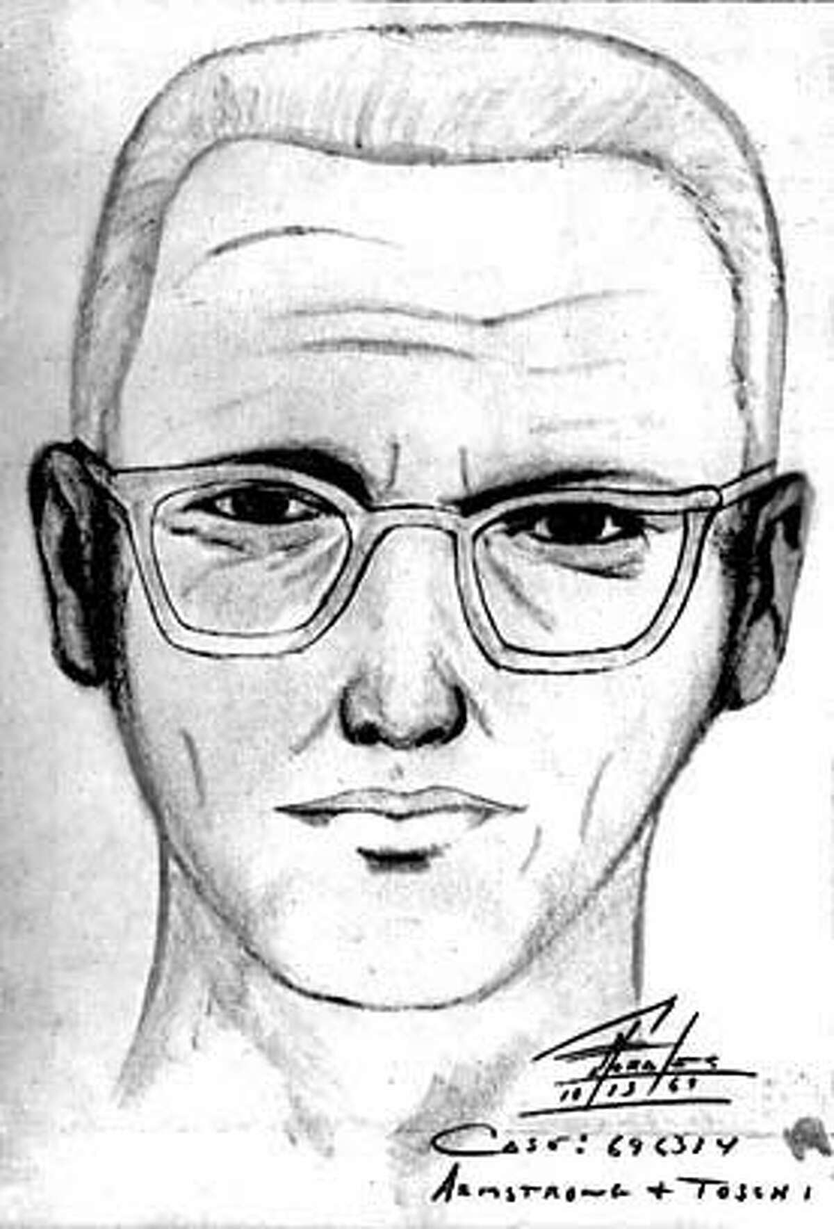 """ZODIAC-C-14DEC99-SC-HO--Police sketch of the man suspected of being the """"Zodiak Killer,"""" 1969. ##Chronicle#4/7/2004##5star##"""