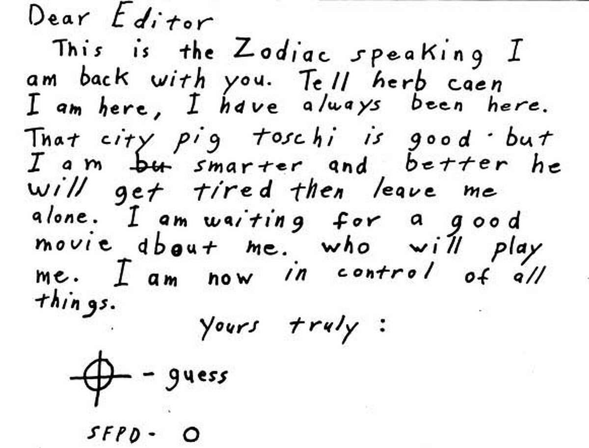 ZODIAC1 - Zodiac Letter sent to the San Francisco Chronice. ##Chronicle#4/7/2004##5star##