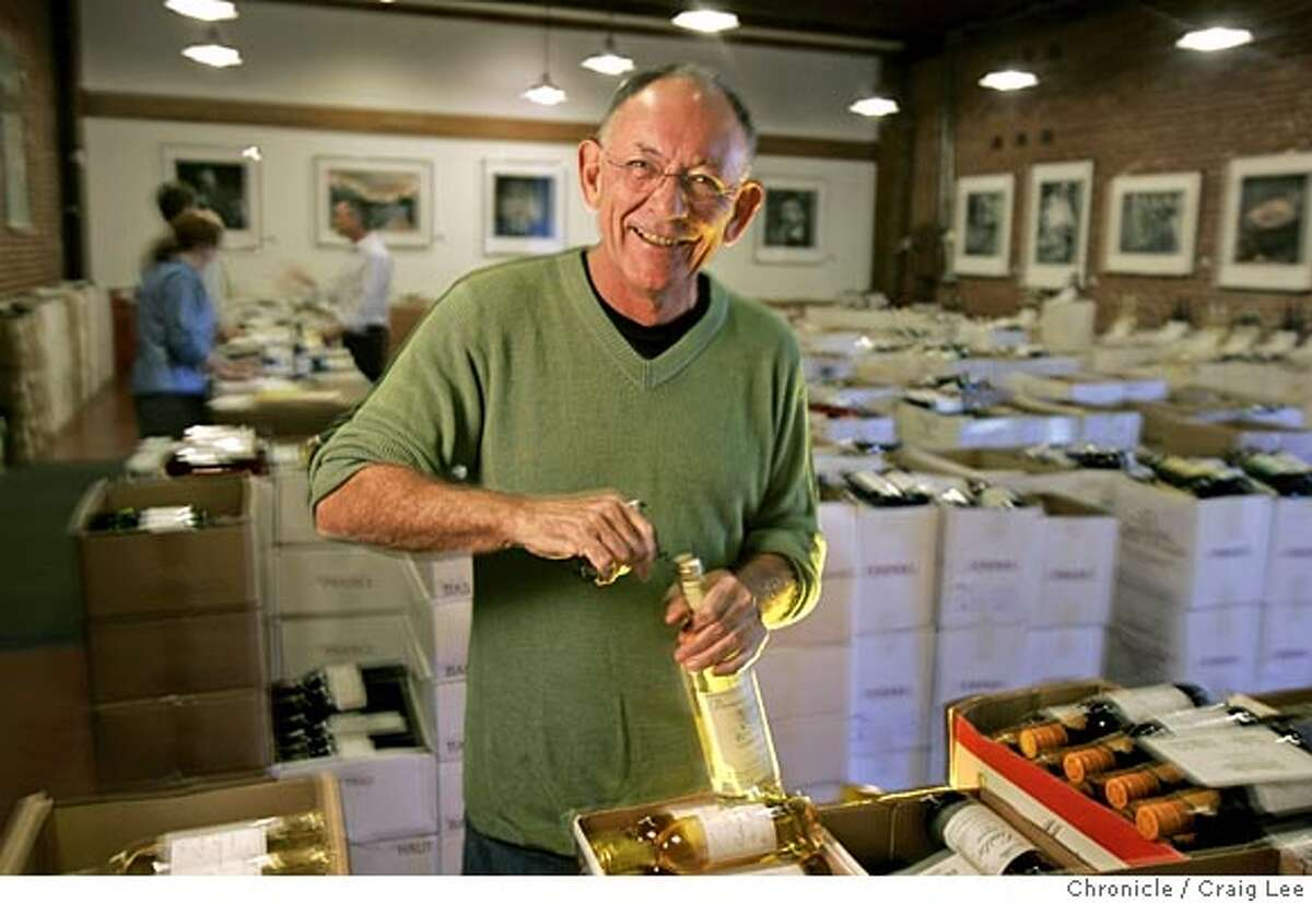 Kermit Lynch, owner of Kermit Lynch Wine Merchant, a wine shop in Berkeley. He sells wines mostly from France. Photo of Kermit Lynch in his wine shop. Event on 9/27/05 in San Francisco. Craig Lee / The Chronicle