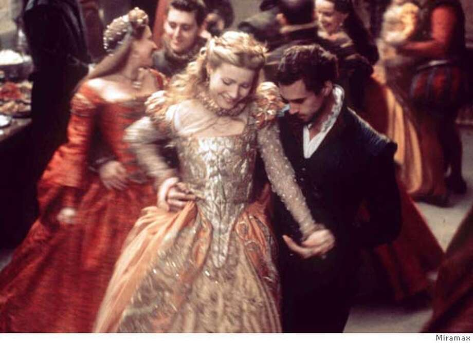 "� FILE--Gwyneth Paltrow and Joseph Fiennes appear in a scene from the movie ""Shakespeare in Love."" The film was one of five movies nominated for Best Picture in the 71st Annual Academy Awards, announced Tuesday, Feb. 9, 1999 in Beverly Hills, Calif. (AP Photo/Miramax, Laurie Sparham, HO) CAT"