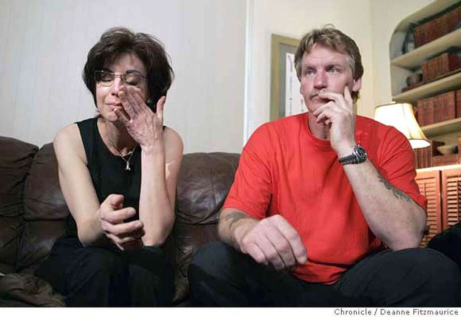 A soldier, James Coon, 22, died April 4 in Balad, Iraq. His step-mother Marie and his father James Coon talk about their son to members of the media from their living room couch. Photographed in Walnut Creek on 4/6/07. Deanne Fitzmaurice / The Chronicle Photo: Deanne Fitzmaurice