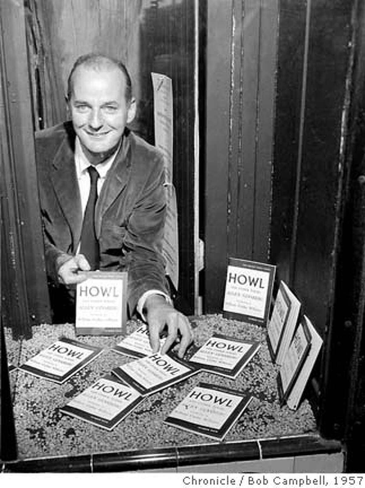 Lawrence Fehlinghetti, during the Howl Magazine case. Photo by Bob Campbell
