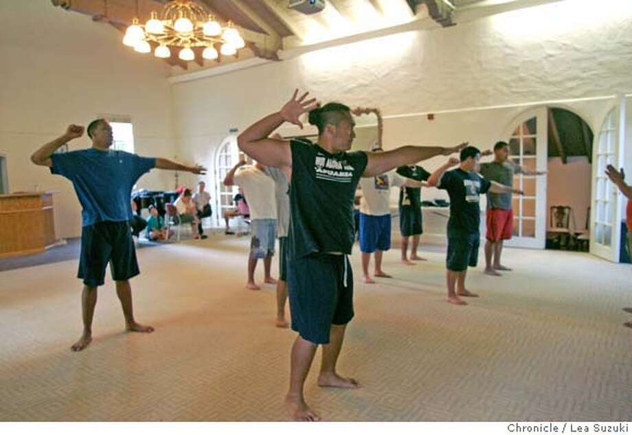 hawaiicalls05_118_ls.JPG  Foreground: J.D. Puli, President of the Hawaii Club, and members of the Menlo College Hawai'i Club rehearse for the 16th Annual Hawai'i Club Lu'au on Sunday, March 25, 2007. Photo taken on 3/25/07, in Menlo Park, CA. Photo by Lea Suzuki/ The Chronicle (J.D. Puli) cooper cq Photo: Lea Suzuki