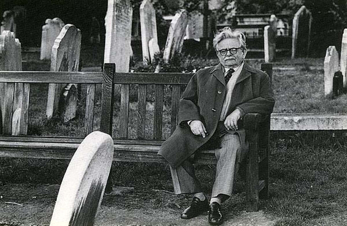 Elias Canetti in Hampstead Cemetary.