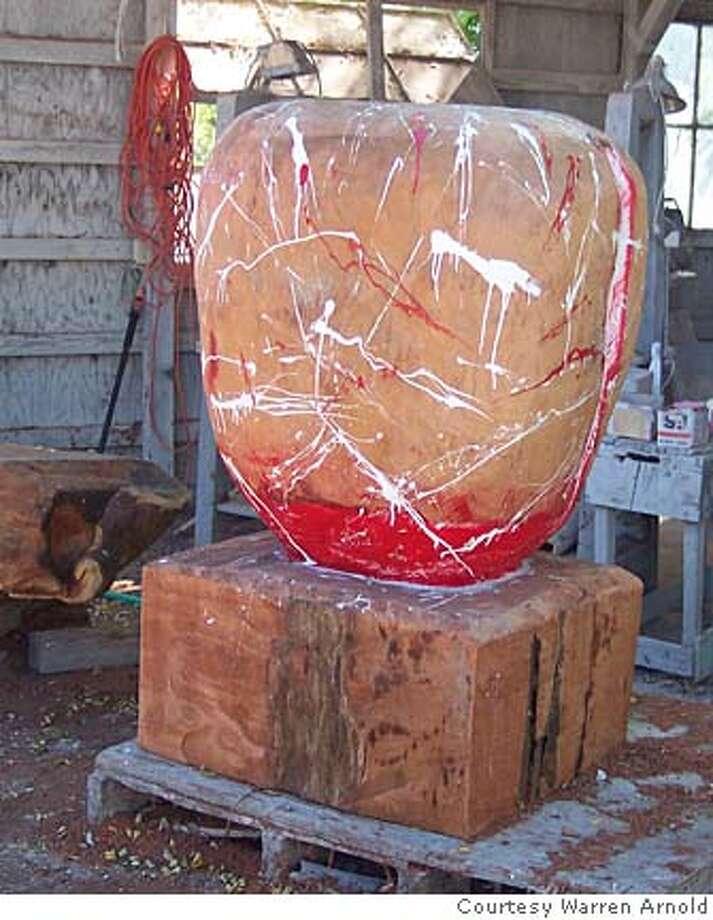 slug: Nbnotes30  caption: A sculpture by Warren Arnold, who is a key person in Sebastopol's Sculpture Jam this weekend.  credit:HANDOUT Ran on: 09-30-2005  A sculpture by Warren Arnold, who spearheaded the Sonoma County Sculpture Jam. Photo: Handout