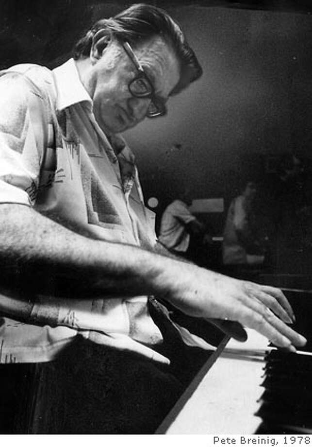 Burt Bales, jazz pianist, playing in 1978 Photo: Pete Breinig