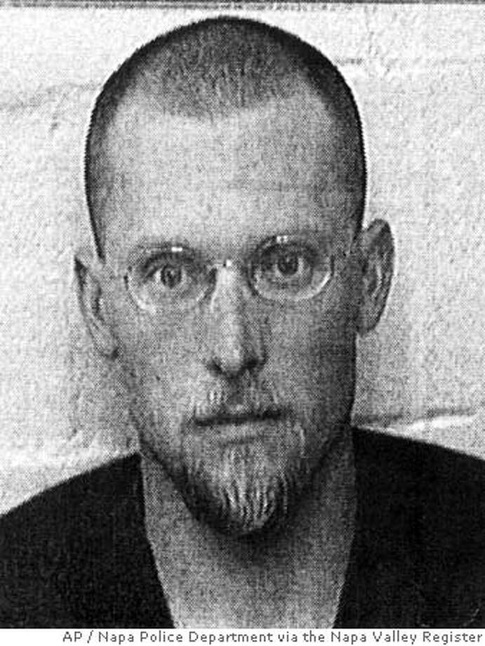 This Tuesday, Sept. 27, 2005, booking photo provided by the Napa Police Department shows suspected murderer Eric Copple in Napa Calif. Copple was booked on two counts of murder in the deaths of Leslie Ann Mazzara and Adrienne Insogna, both 26. The women were fatally stabbed at home Nov. 1, 2004. A third roommate called police when she heard a struggle and then ran to safety. Authorities did not immediately disclose what led to the arrests. (AP Photo/Napa Police Department via the Napa Valley Register BEST QUALITY AVAILABLE Photo: Ho