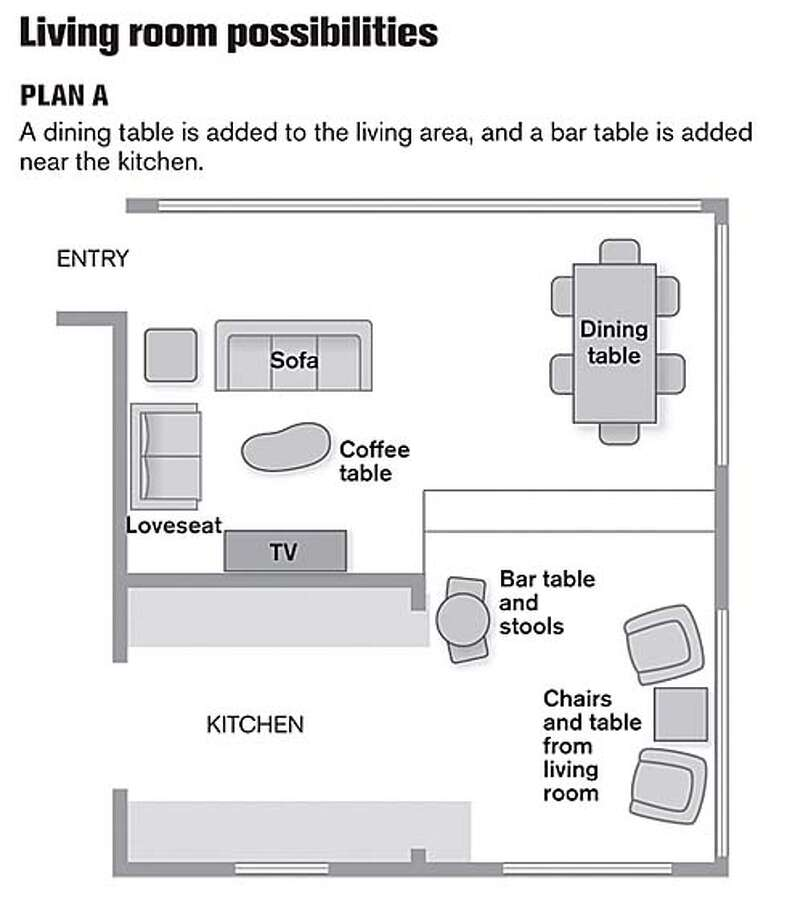 Living Room Possibilities. Chronicle Graphic