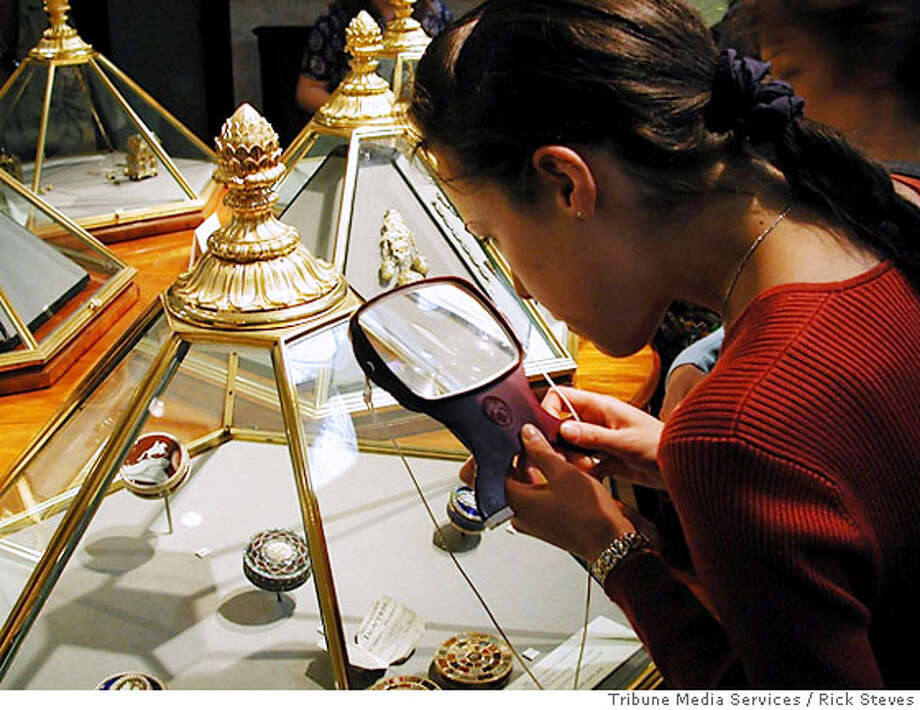 LONDON -- At London's Gilbert Collection, you can see if the snuff boxes are up to snuff. Photo credit: Rick Steves