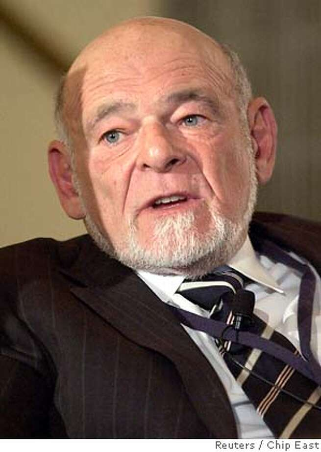 Sam Zell, chairman of Equity Group Investments, LLC, speaks at the Wharton Economic Summit in New York in this February 1, 2006 file photo. Tribune Co. said on April 2, 2007 it agreed to Chicago real estate magnate Sam Zell's bid to take the newspaper publisher and broadcaster private, and it plans to sell the Chicago Cubs after the 2007 baseball season. REUTERS/Chip East/Files (UNITED STATES) 0 Photo: CHIP EAST