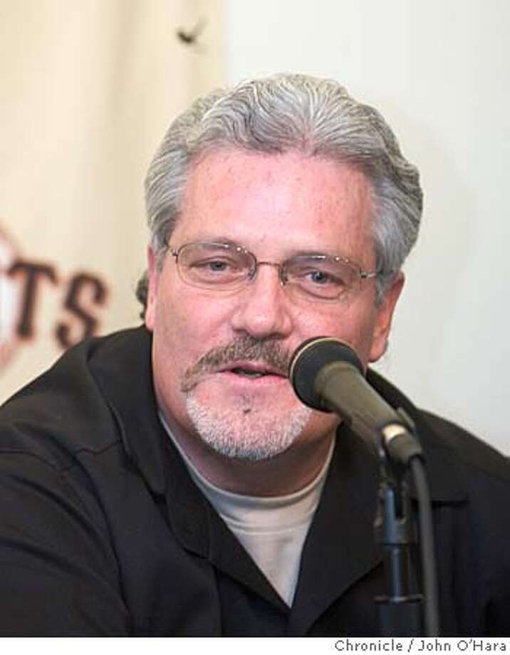 Pac Bell Park, San Franisco,CA  San Francisco Giants General Manager, Brian Sabean introduces photo/John O'hara Photo: John O'Hara