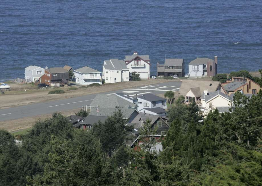 The small plane piloted by Justin Winfrey and carrying his friend, San Francisco nurse Kayla Rodriguez, reportedly landed Thursday evening at the Shelter Cove Airport (shown) in Shelter Cove, on Northern California's Lost Coast. The pair was seen on surveillance video dining at a restaurant in the town. Witnesses later reported seeing a plane take off in the dark. The plane remains missing. Photo: Michael Maloney