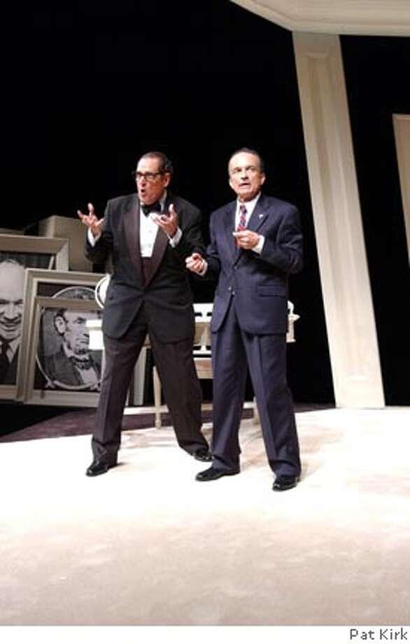 "Peter Van Norden (as Henry Kissinger, left) and David Pichette (Richard Nixon) in ""Nixon's Nixon."" Photo by Pat Kirk"